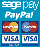 We accept Sagepay, Paypal, Visa, Mastercard and Maestro