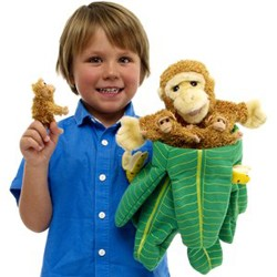Monkey In A Tree - Hideaway Puppet