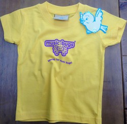 Music Bugs Sunflower T-shirt (ages 6-12 months)