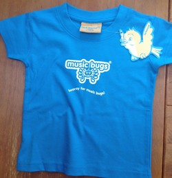 Music Bugs Aqua Blue T-shirt (ages 24 - 36 months)