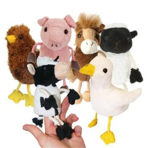 Image shows The Puppet Company Finger Puppets Farm Animal set of six PC002021