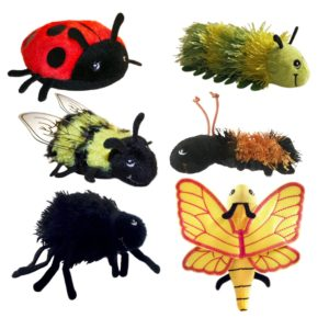Image shows The Puppet Company Finger Puppets Mini Beasts set of six