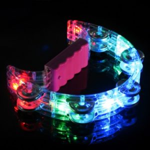 Image Shows Glow Company Flashing Tambourine