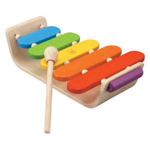 Image shows Plan Toys Oval Xylophone