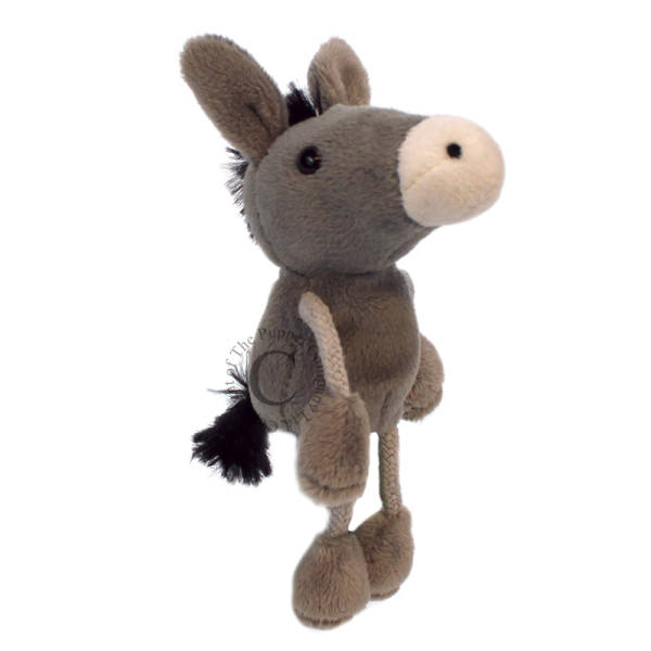 Image shows The Puppet Company Donkey Finger Puppet PC002135