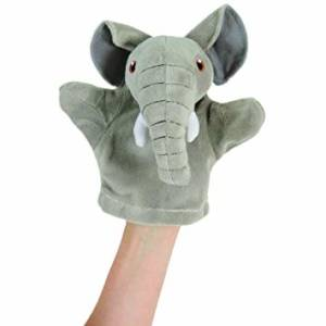 Image shows The Puppet Company Elephant My First Puppet PC003807